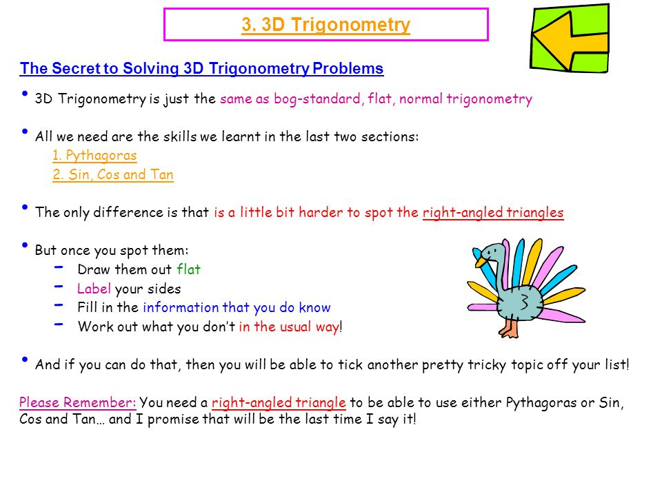 3. 3D Trigonometry The Secret to Solving 3D Trigonometry Problems