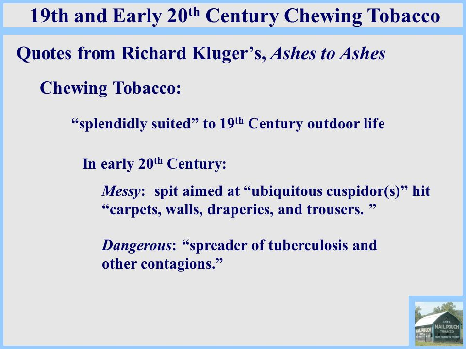 19th and Early 20th Century Chewing Tobacco