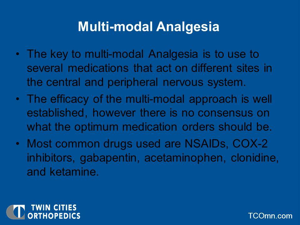Multi-modal Analgesia