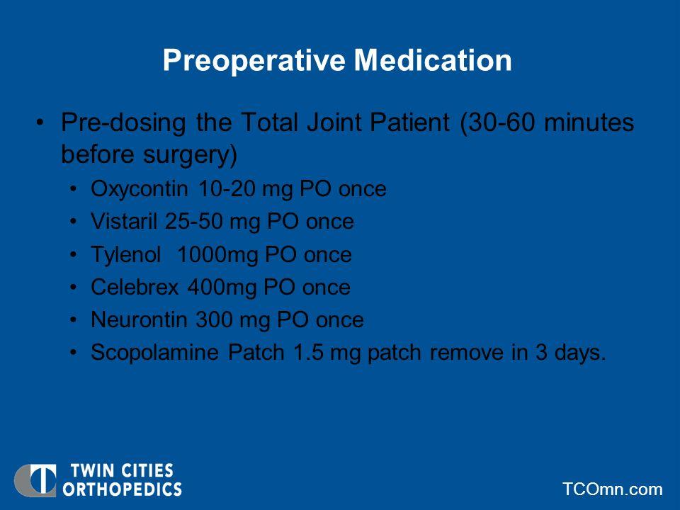Preoperative Medication