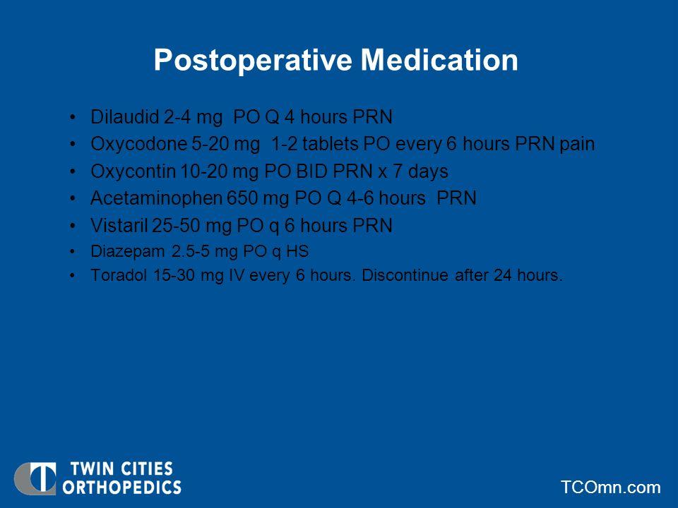 Postoperative Medication