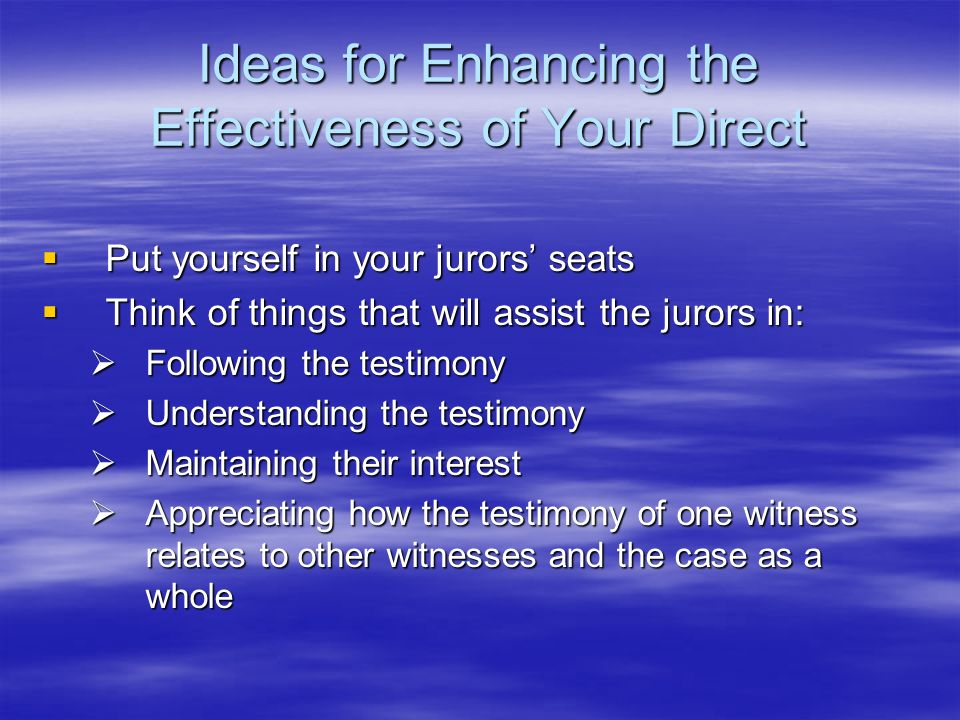 Ideas for Enhancing the Effectiveness of Your Direct