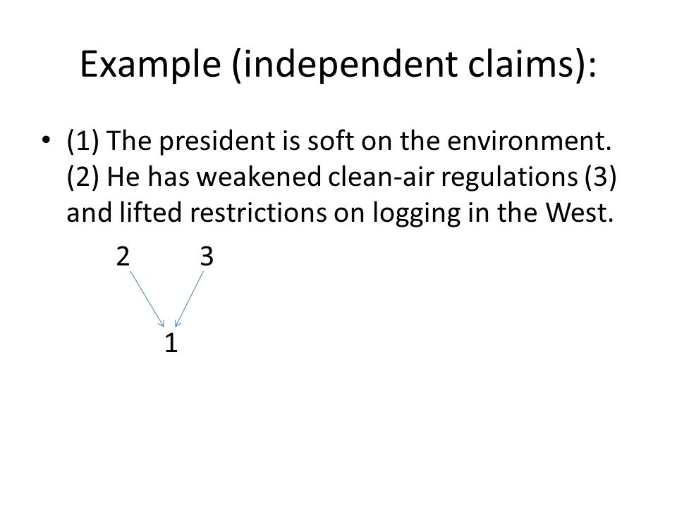 Example (independent claims):