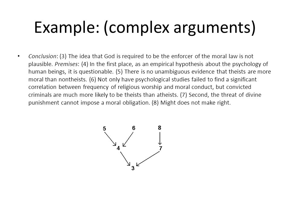 Example: (complex arguments)