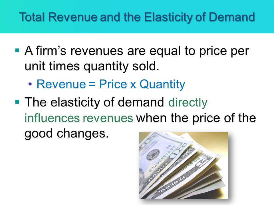 Total Revenue and the Elasticity of Demand