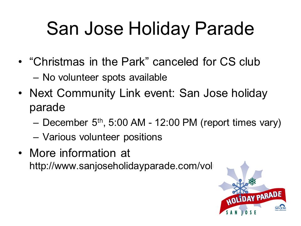San Jose Holiday Parade