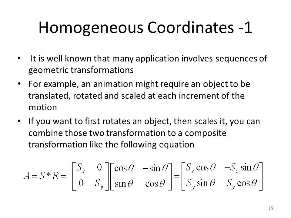 Homogeneous Coordinates -1
