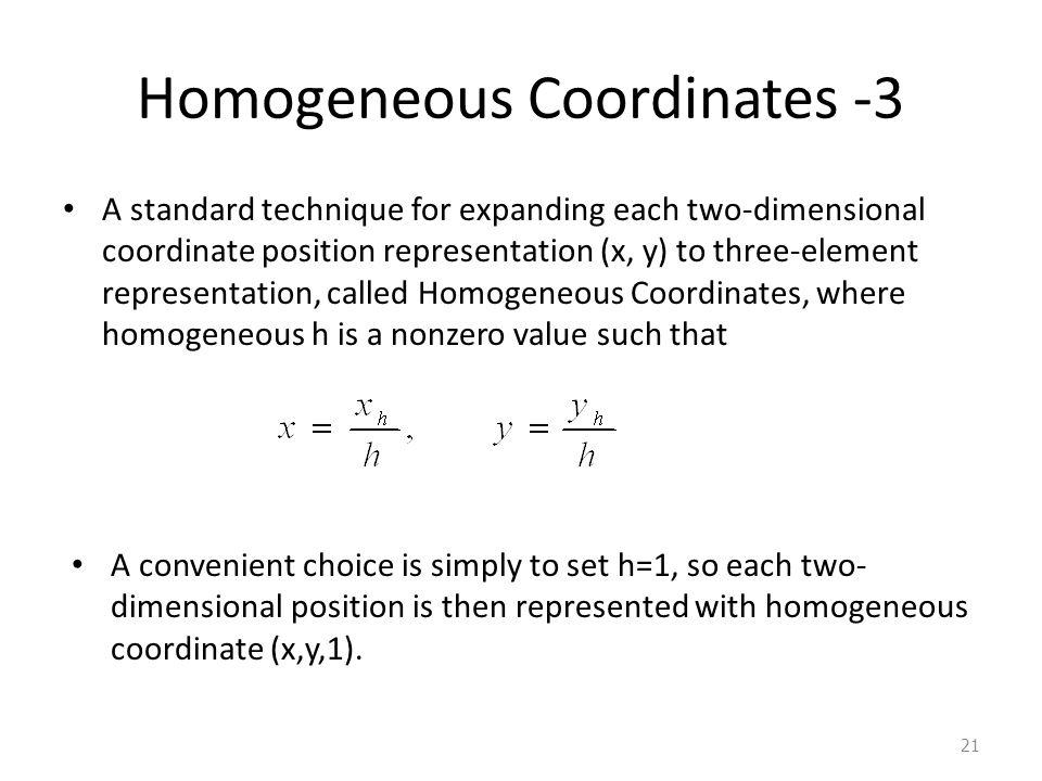 Homogeneous Coordinates -3