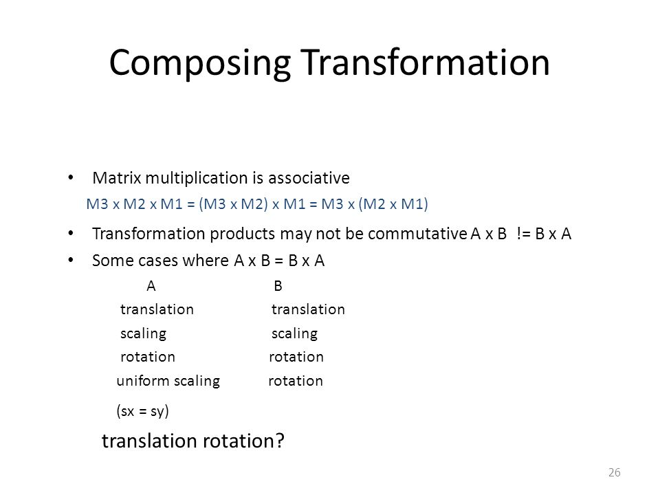 Composing Transformation