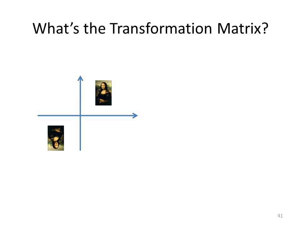 What's the Transformation Matrix