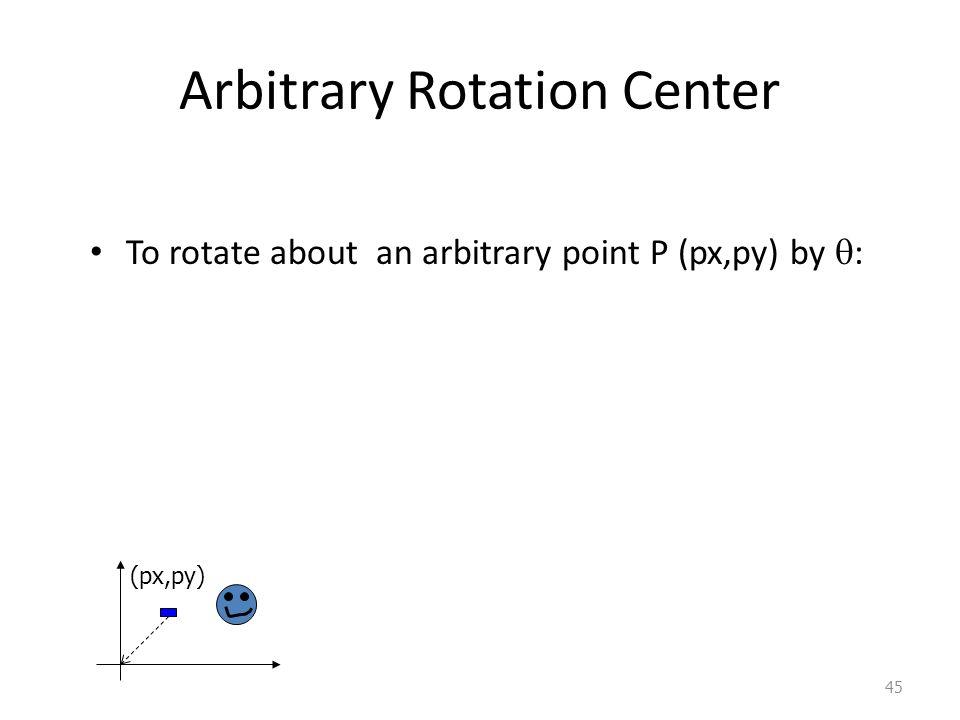 Arbitrary Rotation Center