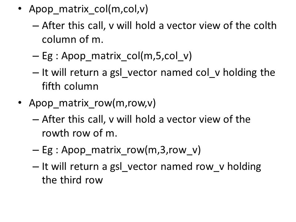 Apop_matrix_col(m,col,v)