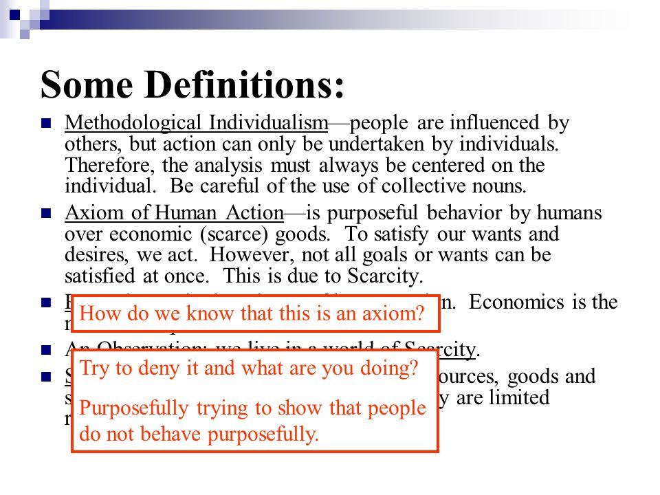 Some Definitions: