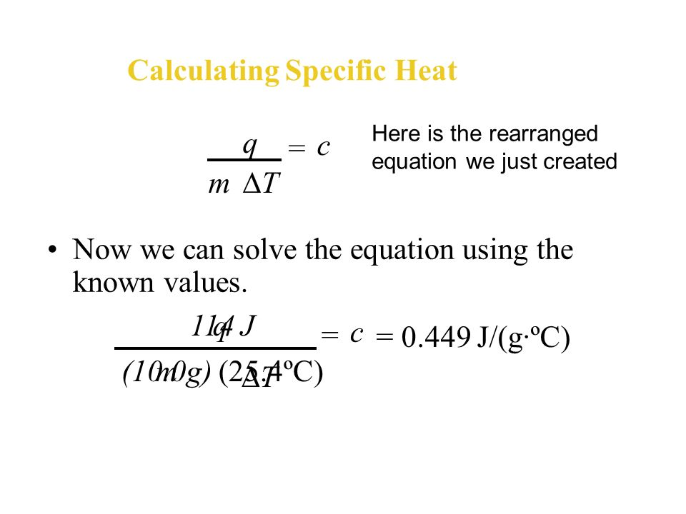 Calculating Specific Heat