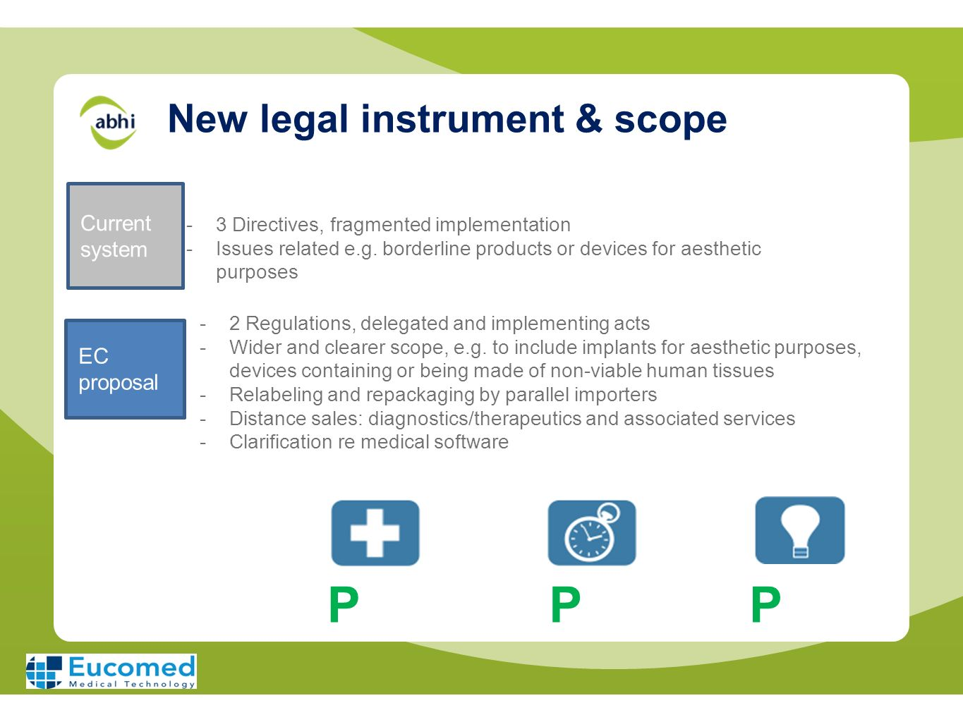 New legal instrument & scope