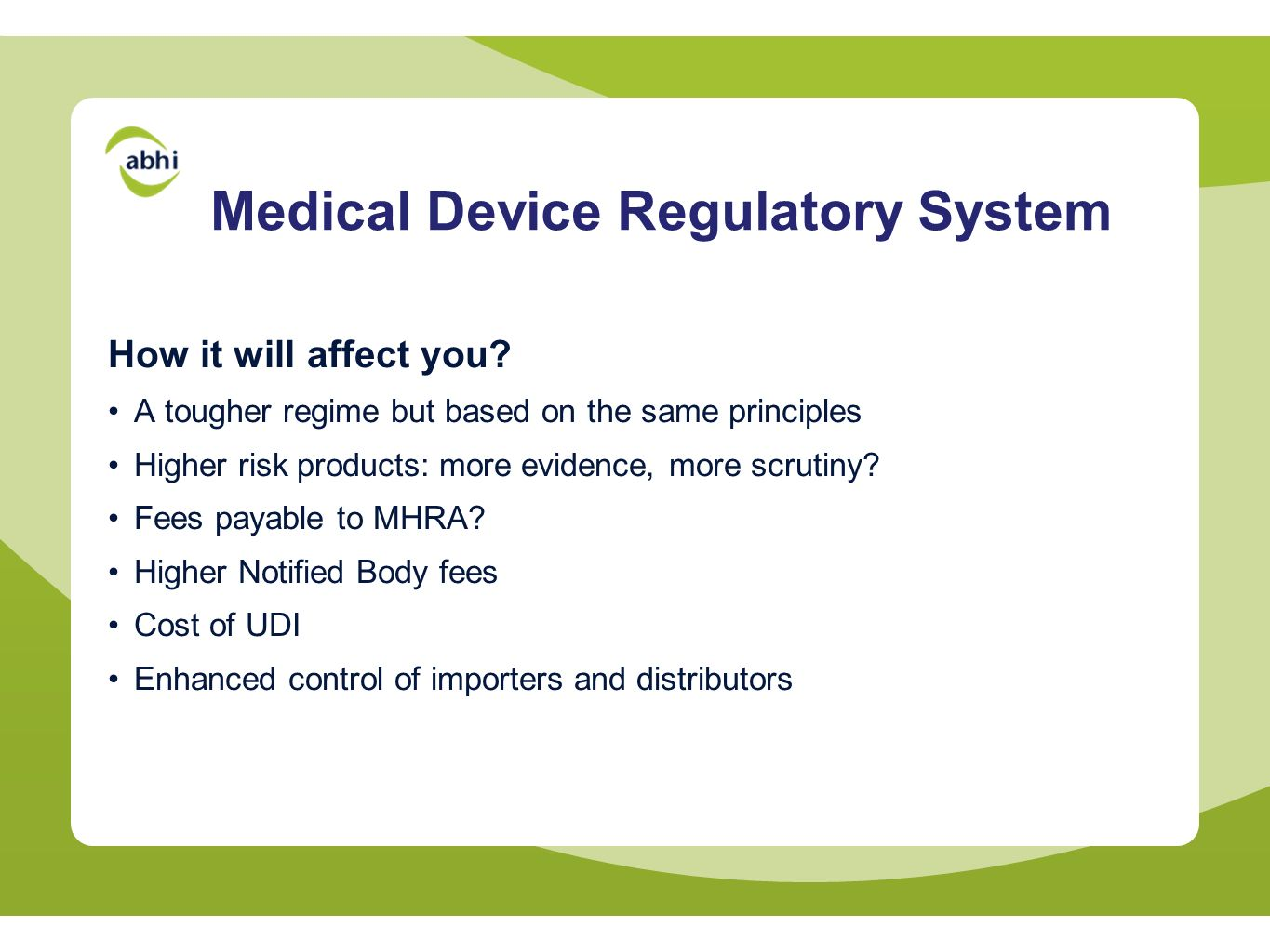Medical Device Regulatory System