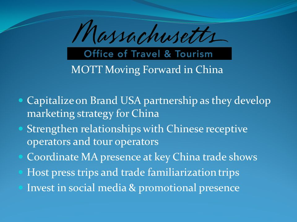 MOTT Moving Forward in China