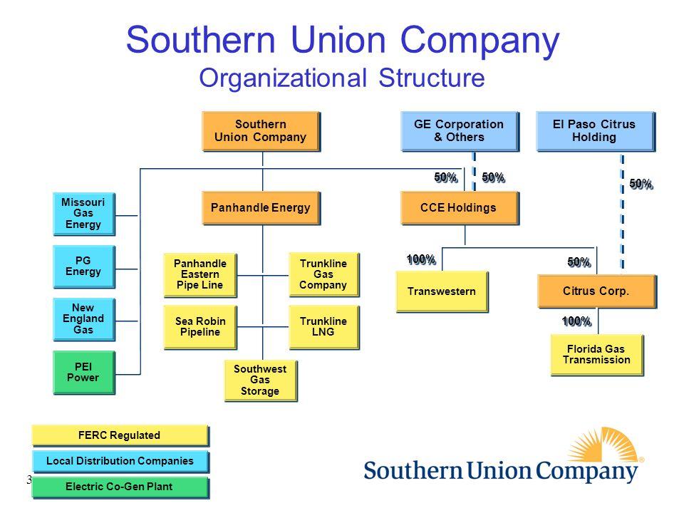 Southern Union Company Organizational Structure