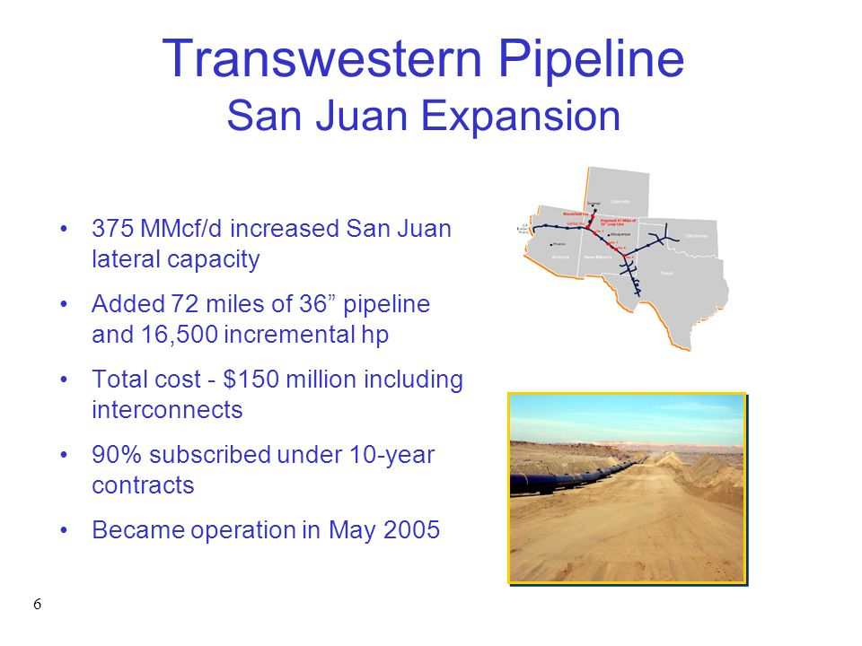 Transwestern Pipeline San Juan Expansion