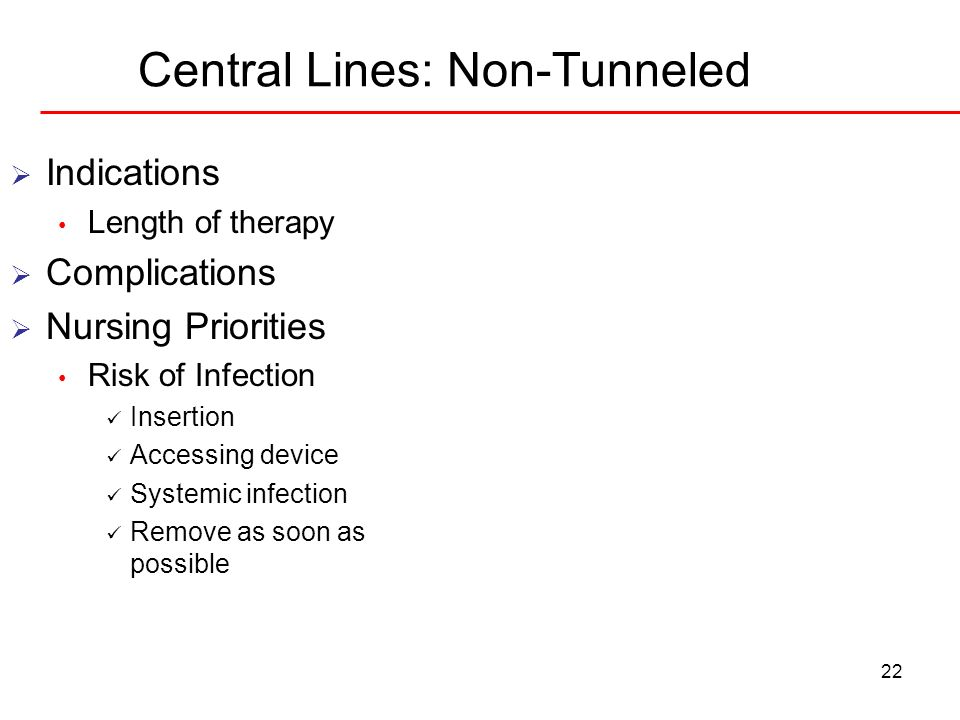 Central Lines: Non-Tunneled