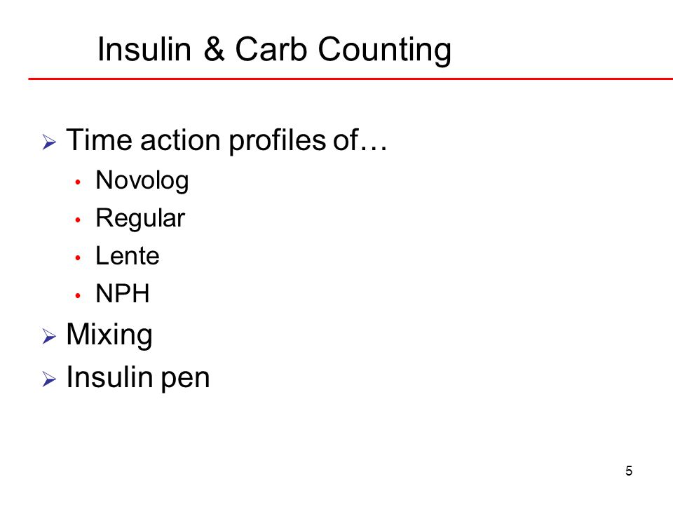 Insulin & Carb Counting