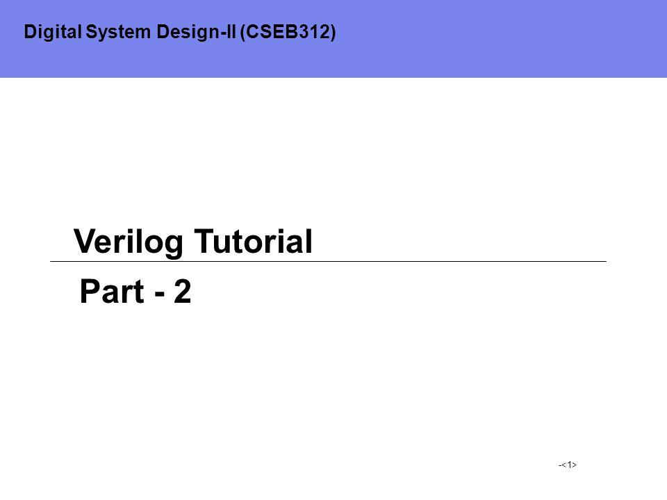 Digital System Design-II (CSEB312)