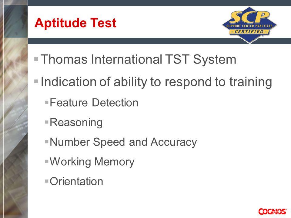 Thomas International TST System