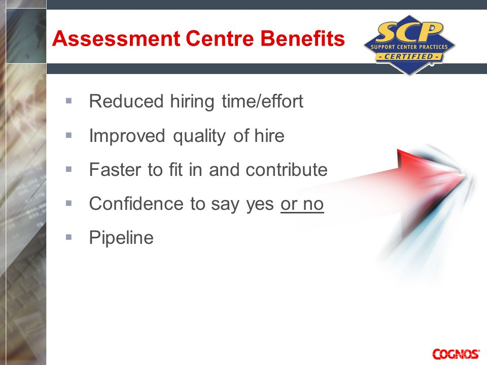 Assessment Centre Benefits