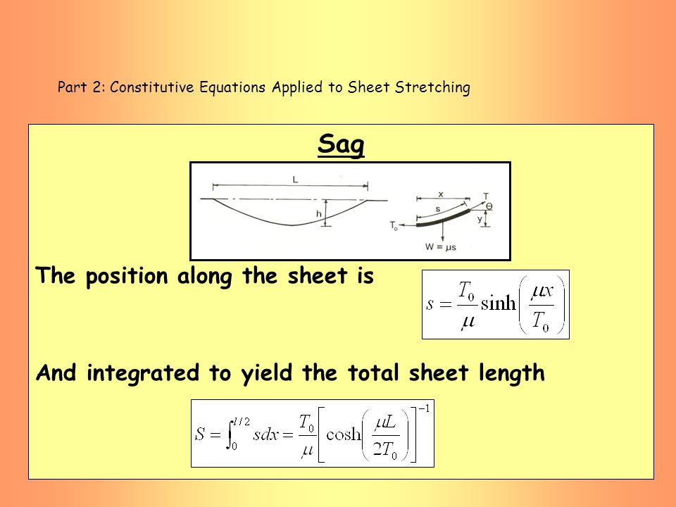 Part 2: Constitutive Equations Applied to Sheet Stretching