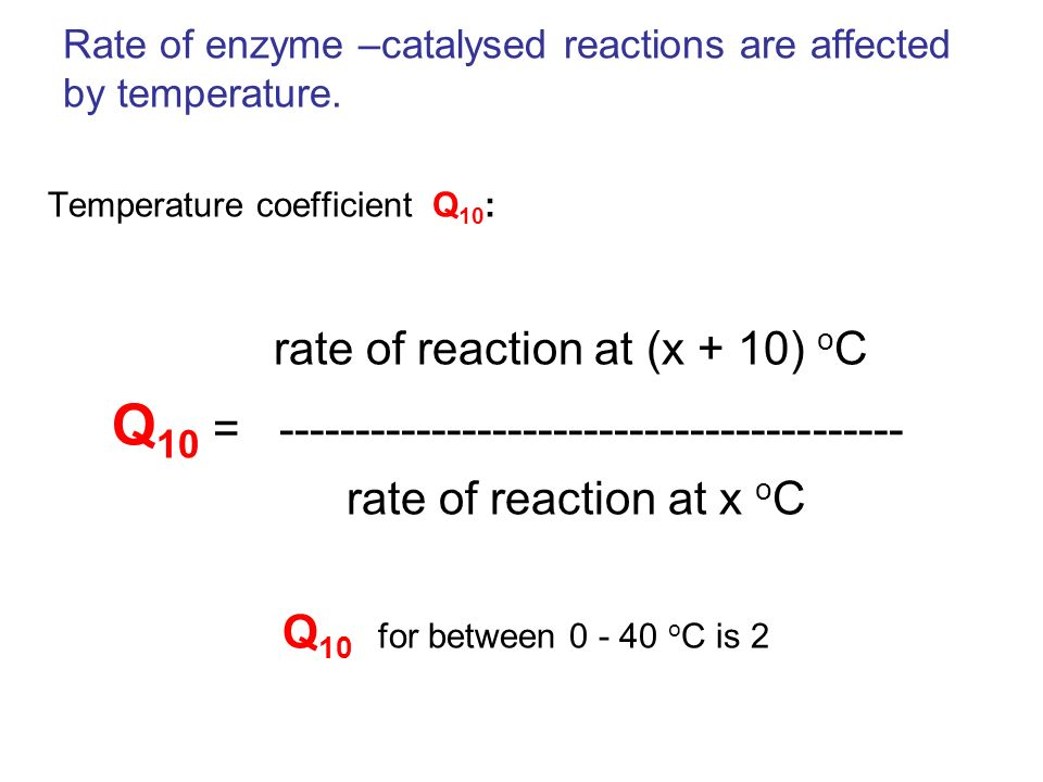 Rate of enzyme –catalysed reactions are affected by temperature.
