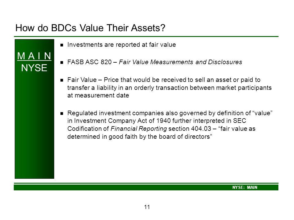 How do BDCs Value Their Assets