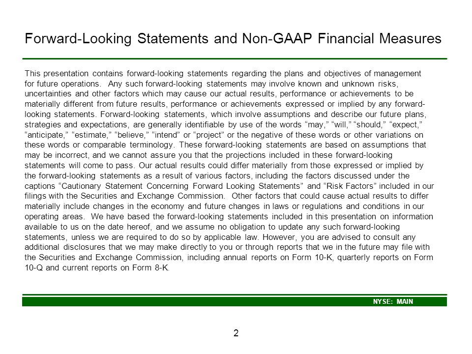 Forward-Looking Statements and Non-GAAP Financial Measures