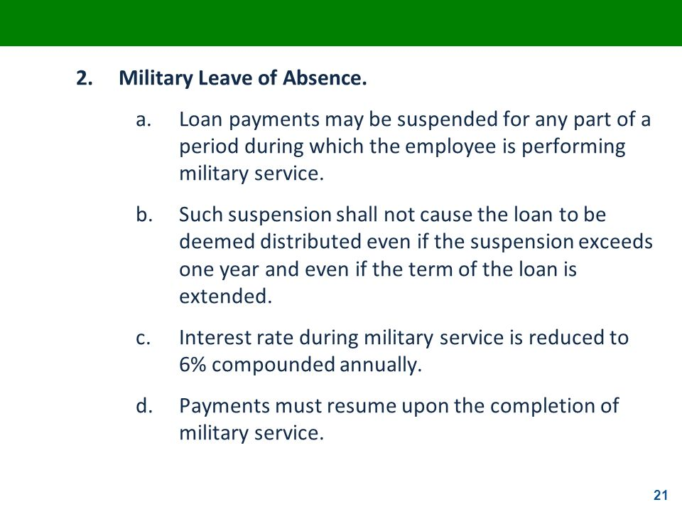 2. Military Leave of Absence.