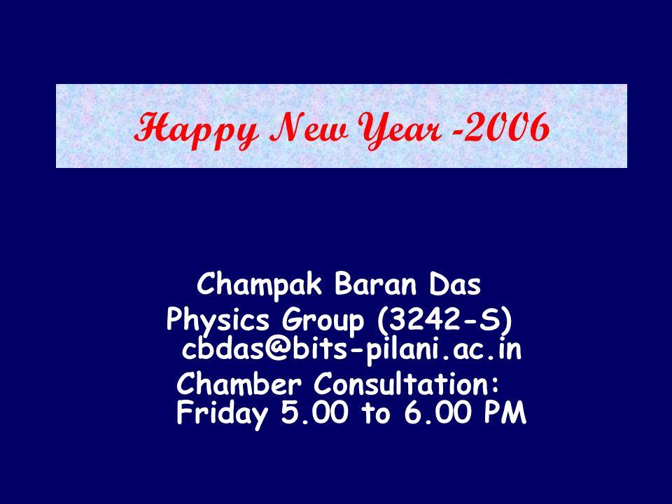 Happy New Year -2006 Champak Baran Das