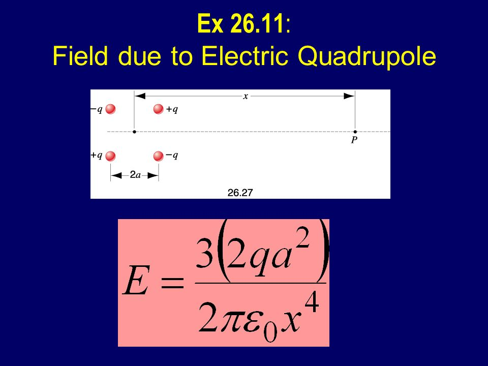 Ex 26.11: Field due to Electric Quadrupole