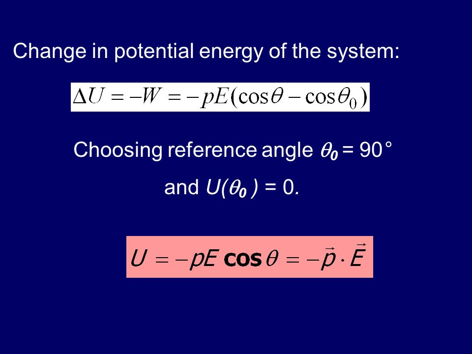 Choosing reference angle 0 = 90°