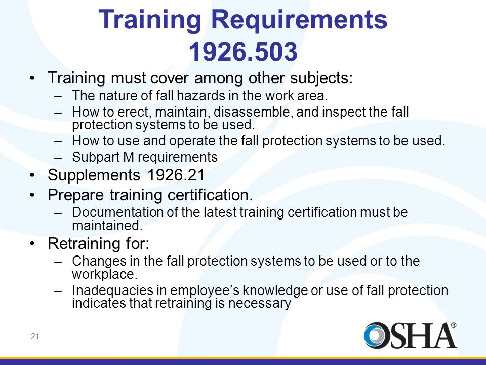Training Requirements 1926.503