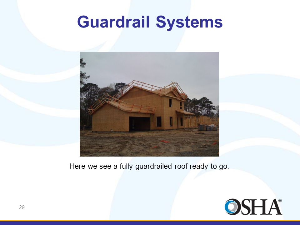 Guardrail Systems Here we see a fully guardrailed roof ready to go.