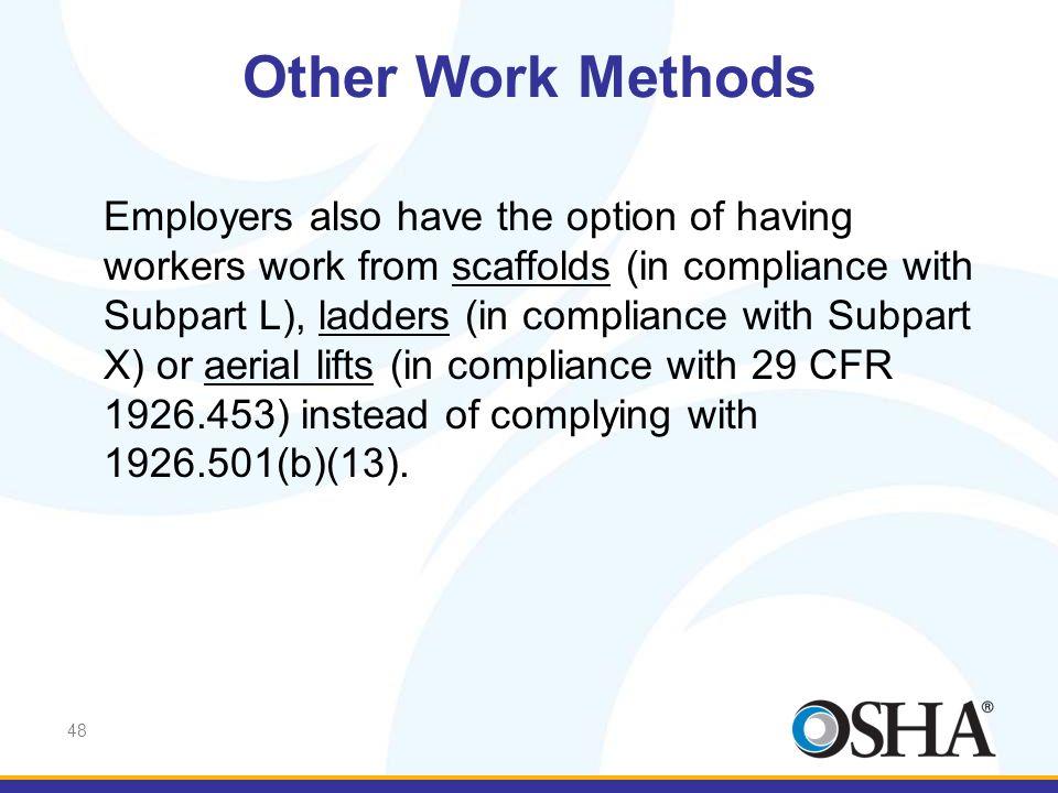 Other Work Methods