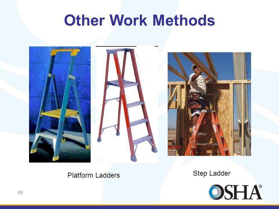 Other Work Methods Step Ladder Platform Ladders