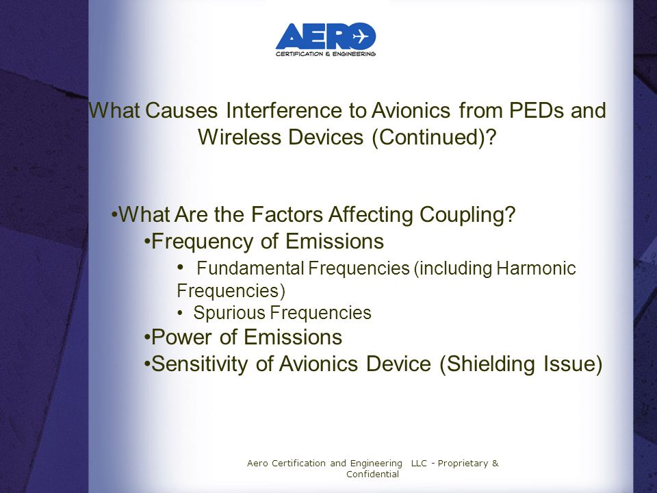 What Causes Interference to Avionics from PEDs and