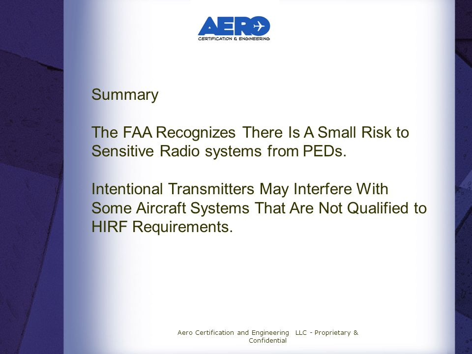 Aero Certification and Engineering LLC - Proprietary & Confidential