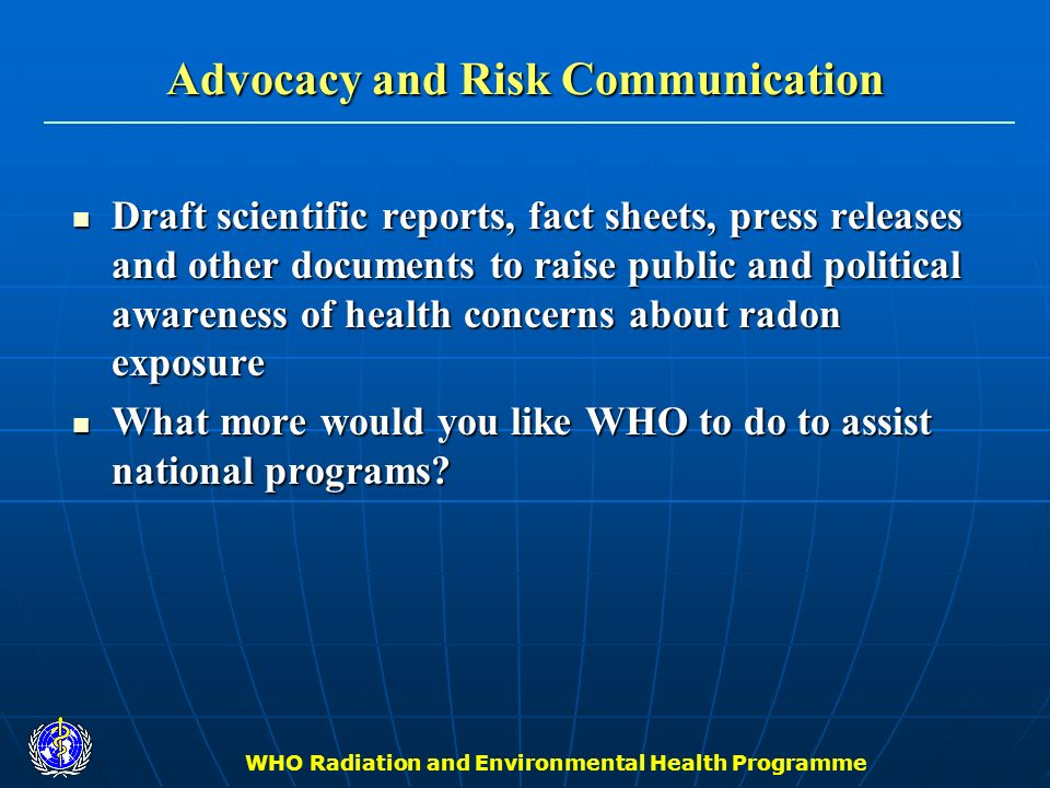 Advocacy and Risk Communication