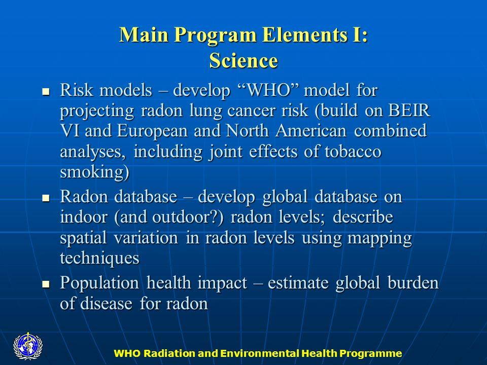 Main Program Elements I: Science
