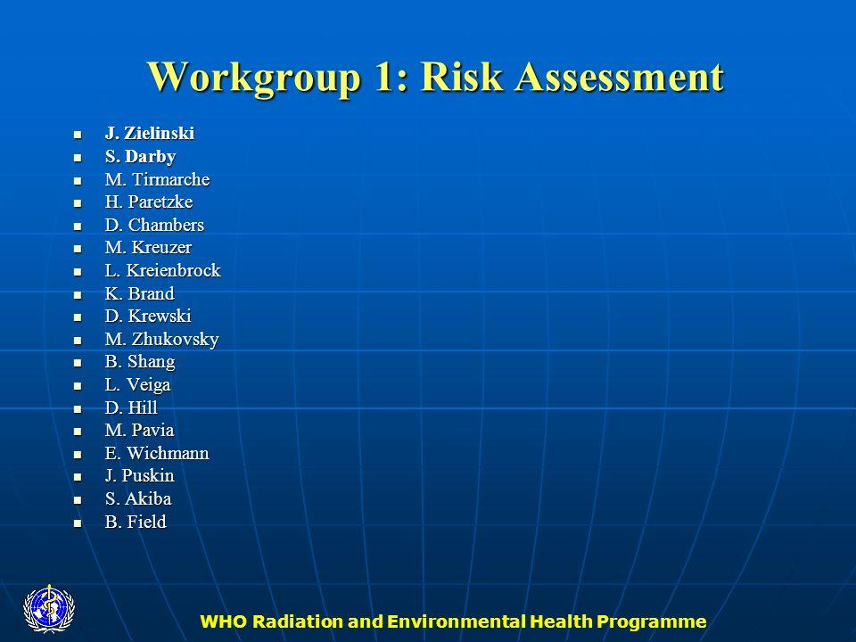 Workgroup 1: Risk Assessment