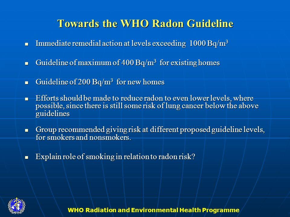 Towards the WHO Radon Guideline