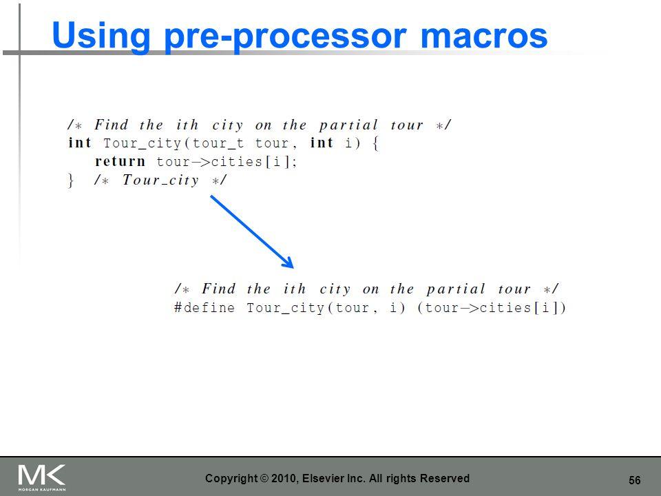 Using pre-processor macros