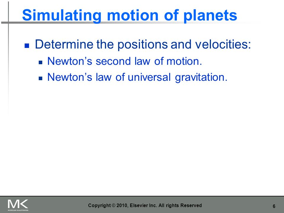 Simulating motion of planets