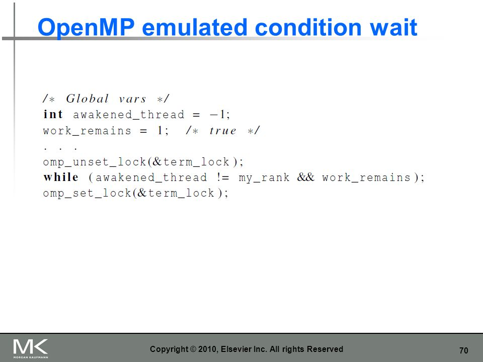 OpenMP emulated condition wait