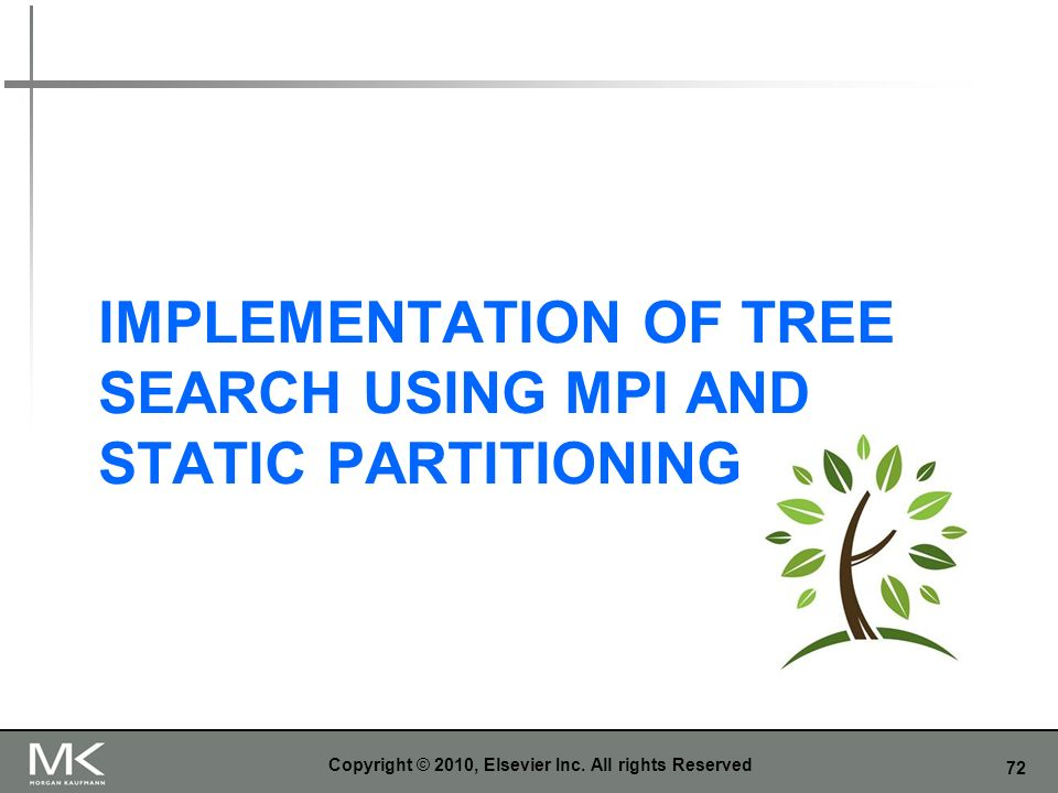 Implementation of Tree Search Using MPI and Static Partitioning